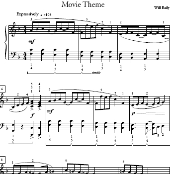 movie theme 4 sheet music mp3 fast mp3 med mp3 slow