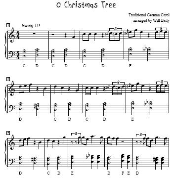 O Christmas Tree Easy Piano Sheet Music Free O Christmas